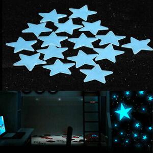 80PCS Nice Plastic Wall Stickers Decal Stars Glow in the Dark Night Kids Room JN