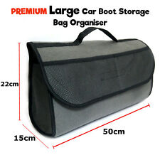 LARGE BOOT ORGANISER CAR VEHICLE CARPET STORAGE BAG TOOLS BOOT TIDY VELCRO