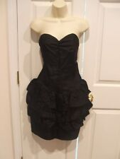 NWT  JUDY SWARTZ BLACK STRAPLESS RUFFLE COCKTAIL PARTY OCASSION DRESS SIZE 9