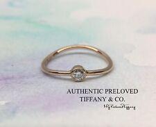 Mint Tiffany & Co. Elsa Peretti Wave Single Row Diamond Ring Rose Gold #4 RP$700