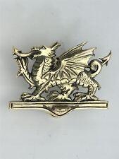 Polished Brass Welsh Dragon Door Knocker