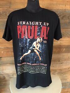 Paula Abdul T Shirt Size XL Straight Up Paula! VIP North American Tour 2018 New