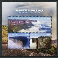 Guyana 2018 MNH Landmarks Monte Roraima 3v M/S Mountains Tourism Stamps