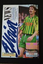 Wigan Athletic Vs Leicester City 20-11-04  Program (P112)