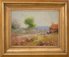 Flower In Field~Original Oil Painting+Wood Frame