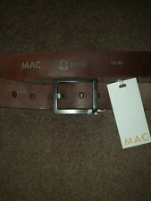 MAC  Men's  Chunky Brown Leather Belt Made in Germany 100/40 New