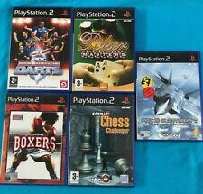 Sony Playstation 2 Spiels x 5. Boxen-Schach-Poker-Dart - Ace Combat