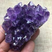 Natural Raw Amethyst Quartz Geode Druzy Crystal Cluster Healing Specimen Decor ~