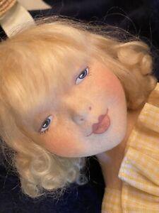 Haut Melton Felt Doll Marcella Delight Gruelle Doll 15 1/2 IN Cloth Doll