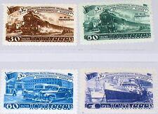 RUSSIA SOWJETUNION 1948 1252-55 1261-64 Transportation 5 year Plan Train Car MLH