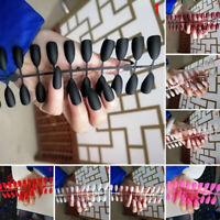 24Pcs Fashion False Nail Acrylic Gel Full French Fake Nails Art   Tools TOCA VGC