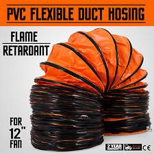 "25' Duct Hose 12""D Flexible Ventilator Dryer Air Mover Suction & Transport"