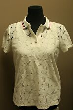 Tommy Hilfiger St. Michel Casual Women's Lace T-Shirt, Color: White (Size: S)