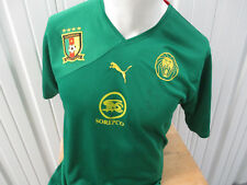 VINTAGE PUMA CAMEROON NATIONAL TEAM XL SEWN GREEN JERSEY 2010 KIT PREOWNED