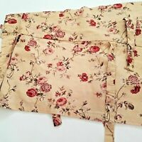 """WAVERLY SONATA HARBOR HOUSE RED GOLD GREEN FLORAL TIE UP VALANCE 17"""" X 66"""""""