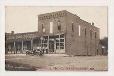 Martinsburg Missouri Jacobi Bros Store Front Sign Auto Real Photo RPPC