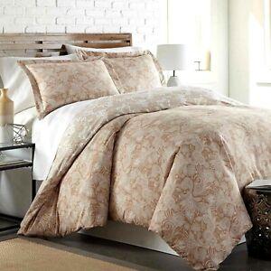 SouthShore Fine Linens Perfect Paisley Ultra-Soft Reversible Comforter Set Taupe