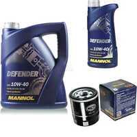 Inspektionspaket Filter Set MANNOL Defender 10W40 Motoröl+ Toyota Aygo 10190689