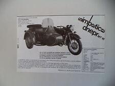 advertising Pubblicità 1987 DNEPR MT 16/36 SIDECAR