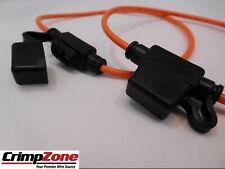 MINI ATM 12 AWG 30 AMP Inline Fuse Holder - Water Resist Cap