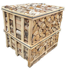 Kiln Dried Logs OAK/BIRCH MIX 50/50 Hard Wood 1.2m Crate Stove Fuel Wood Logs