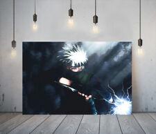 NARUTO KAKASHI 1 -DEEP FRAMED CANVAS ANIME WALL ART PICTURE PAPER PRINT- BLUE