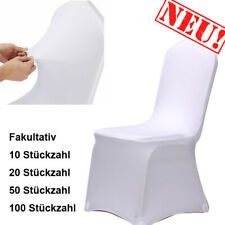 10pcs Stretch Spandex White Polyester Chair Covers Tidy Banquet Elastic