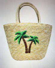 Fresh Produce Palm Tree Straw Beach Tote Bag NWT Purse New Large
