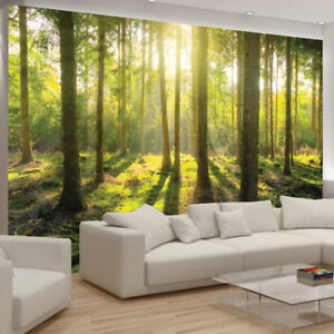Green Tree Plant Flower Wallpaper Mural Forest Photo Picture Bedroom poster Gift