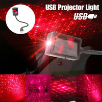 Mini USB LED Car Roof Star Night Light Projector Atmosphere Lamp Starry Sky Red