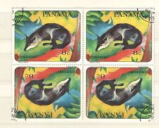 Q7997 - PANAMA 1967 - QUARTINA USATA PITTURA ANIMALI - VEDI FOTO
