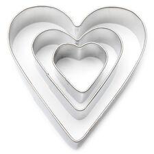 Coeur fondant / cookie cutter set Saint Valentin biscuits artisanat Idée Cadeau