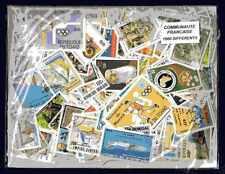 Communauté Française 1000 timbres différents oblitérés