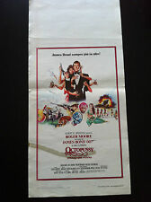 007 JAMES BOND Locandina OPERAZIONE PIOVRA / OCTOPUSSY 1^ edizione 1983 R MOORE