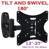 """3D LCD TV SWIVEL TILT WALL MOUNT BRACKET 15 17 19 22 26 32 37"""" VESA 75 100 200mm"""