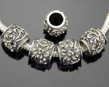 30pcs Tibetan Silver Flower Beads Fit Charm Bracelet Free Ship ZN118