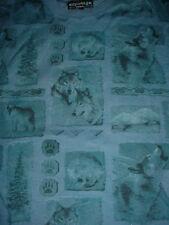Mens Womens Wolf  Husky Dog-Blue-T Shirt-L