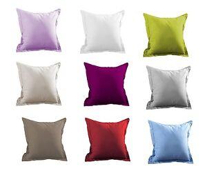 Lovely Casa Taie d'oreiller à volant  65 x65 Coton 57 Fils Plusieurs Coloris