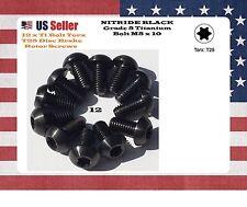 M5 x 10 titanium Black NITRIDE Bolts torx disc brake rotor Bolts GR5 set of 12