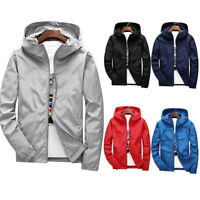 Fashion Men Windbreaker Jackets Casual Hooded Jackets  Zipper Jackets GIFT
