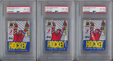 1989 Topps Hockey Factory Sealed Wax Pack PSA 8 NM-MT Lot of 3 Packs