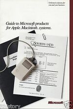 "VINTAGE (1987) RARE BROCHURE MICROSOFT ""GUIDE TO PRODUCTS FOR APPLE MACINTOSH"" Q"