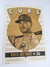 2017 Topps Archives 2016 Retro Original 5x7 Kris Bryant Cubs 1 #'d 04/10 Gold