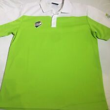 Woolworths Cricket Blast Medium Polo Shirt White Lime Green Colourway