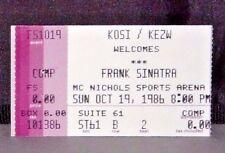 Frank Sinatra Concert Ticket Stub McNichols Sports Arena Denver, Co Oct 1986