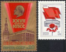 Russia 1986 Lenin/Spassky Tower/Congress Hall/Buildings/Architecture 2v (n44058)