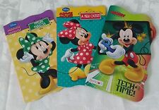 NEW Set of Children's 3 BOARD BOOKS Disney MINNIE MICKEY MOUSE short stories