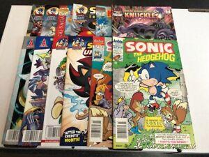 Archie Comics Sonic The Hedgehog Comic Book Lot 11