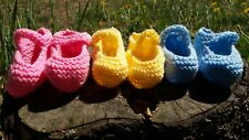 Hand Knitted Woollen Baby Booties
