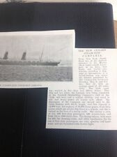 D5-1 Ephemera 1893 Picture Article Cunard Steam Ship Campania Launched